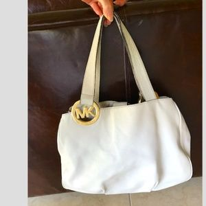 Michael Kors cream color large hobo